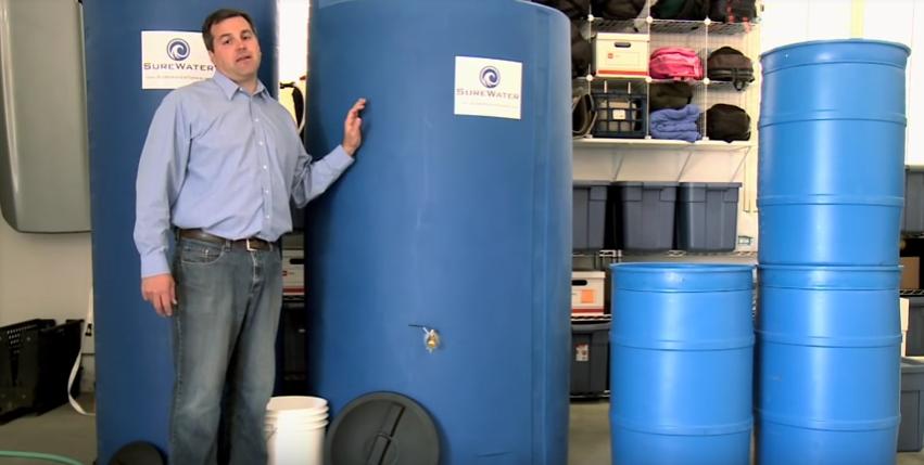 tanque de agua plastico y concreto